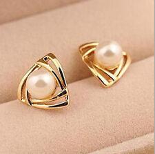 New Fashion Women Girl Korean jewelry double pearl earings  Heart earrings