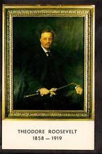 vintage portrait Theodore Roosevelt by DeLaszlo at Sagamore New York postcard