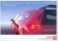 Citroën Citroen Prospekt 11/04 2004 Autoprospekt C2 C3 Pluriel C4 C5 C8 Auto