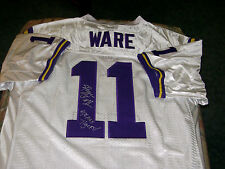Spencer Ware LSU Tigers Signed XL White Football Jersey Kansas City Chiefs NFL