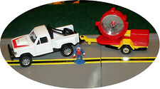 MAISTO - UTILITY TRUCK w/ HITCH & SEARCHLIGHT TRAILER - S TRAIN VEHICLE -2 avail