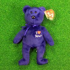 """NEW Ty Beanie Baby Toronto The Bear """"I <3 Bears"""" 2004 Retired  - FREE SHIPPING"""