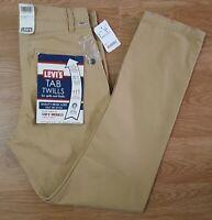 Levis Strauss Overalls Trousers Tab Twills Beige Mens Size W32 L32