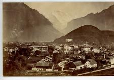 Suisse Canton de Berne Interlaken Vintage Print Tirage albuminé  10x14  Ci