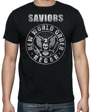 Walking Dead The Saviours New World Order Negan Zombies Black Mens T Shirt