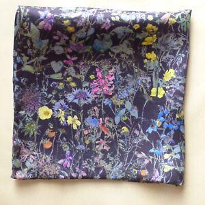 Floral pocket square Wild flowers Liberty satin silk