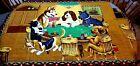Vintage Original Dogs Playing Poker Felt Wall Tapestry HA-VA-TI HUGE 56.5 x 38