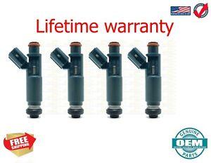 x4 OEM Denso Fuel Injectors CHEVROLET PRIZM 19998-1999 1.8 4 CYL USA 23250-22010