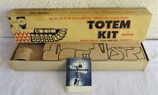 """Vintage 1950's """"Thunderbird� Indian Totem Wood Carving Kit * New Complete"""
