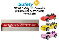 NEW! Safety 1st Corvette ORIGINAL OEM WINDSHIELD STICKER