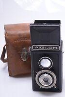 ATOMS AIGLON TLR 6X6CM ON 127 ROLL FILM CAMERA W/ BERTHIOT ANASTIGMAT 75MM F/6
