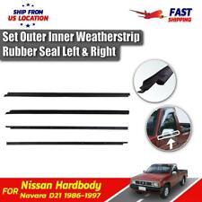 Window Glass Seals Door Belt Weatherstrip Fits Datsun Hardbody Nissan D21 Pickup