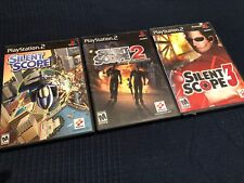 Silent scope 1 2 3 PlayStation 2 PS2 complete in cases