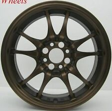 15X6.5 ROTA CIRCUIT 10 RIMS 4X100 WHEELS FITS 4 LUG MIATA ECHO YARIS XA