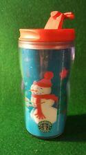 Starbucks Christmas Holiday Kids Travel Tumbler Mug Cup Snowman Hologram Small