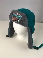 Mitchell & Ness NBA Vancouver Grizzlies Winter Bomber/ Hunting Style Hat LRG NWT
