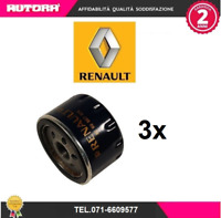 8200768913 3 Filtri olio adat. Dacia-Nissan-Renault (MARCA RENAULT ORIGINALE)