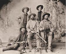1891 view, Hunters, antique rifles, guns, 14x11 Photo, Boulder Colorado, HUNTING