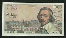 1000 Francs Richelieu (1-7-1954)