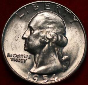 Uncirculated 1954-S San Francisco Mint Silver Washington Quarter