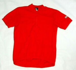 Canari men's cycling jersey red pullover size M short sleeve