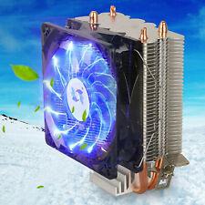 Blue LED CPU Cooler Fan Heatsink for Intel LGA1155 /775/AMD AM4/AM3+/AM3/AM2+