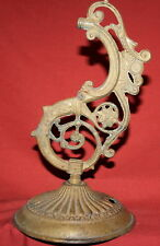 Antique Art Deco ornate bronze desk lamp holder