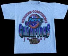 Vintage 1997 Utah Jazz champions shirt Reprint Gidlan White Tshirt Mens
