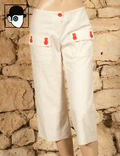 'SONIA RYKIEL - SONIA' 00s CANVAS COOLIE TROUSERS - UK 10 - (Z)