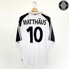 2000/02 Matthaus #10 Germany Euro 2000 Adidas Home Football Shirt (Xl) Dfb