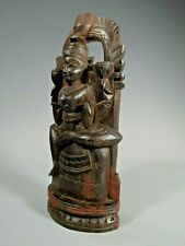 North India Indian Hindu or Buddhist Wood Statue of a Deity ca. 20th century