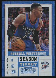 2017 Contenders DP Building Blocks Season Ticket Russell Westbrook Thunder /10
