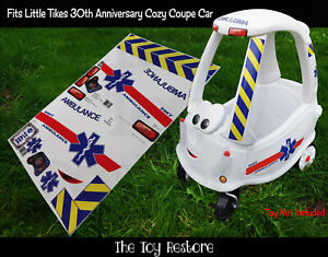 Toy Restore Replacement Stickers Ambulance Fits Little Tikes 30th Anniversay Car