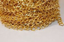 15ft Gold Rhombus Chain links 8.5x6.8x1.2mm 1-3 day Shipping