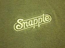 SNAPPLE logo XL beat-up polo shirt embroidery juice iced-tea tropical w/ paint