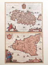 Ortelius Hollandiae Paesi Bassi Holland Riproduzione Mappa Antica Stampa Nuovo
