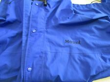 Marmot Medium Royal Blue Lightweight Windbreaker Rain Coat