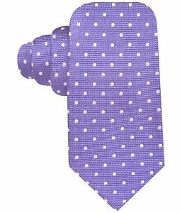 Countess Mara Mens Polka Dot Self-tied Necktie, Purple, One Size