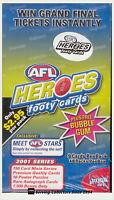 2001 ESP Elite Sports AFL Heroes Trading Card Series Factory Box (48 packs)