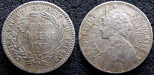 Martinique belle et rare 50 centimes 1897