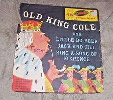 Nursery Rhymes Old King Cole Jack & Jill Bo Beep Golden Record Mitch Miller 1955