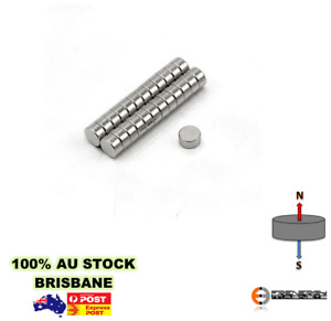 20x Strong N50 7mm x 2mm Neodymium Disc Magnet | Round Craft Model Rare Earth