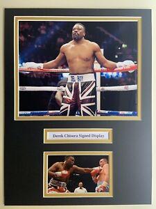 "Boxing Derek Chisora Signed 16"" X 12"" Double Mounted Display"