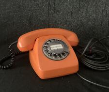 Vintage Altes Telefon orange Wählscheibe 70er Jahre 611-2 Hagenuk Deutsche Post