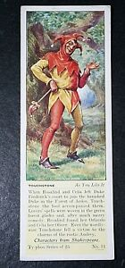As You Like It   William Shakespeare  Touchstone  Vintage Card # CAT H