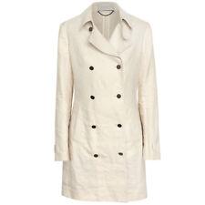 STELLA McCARTNEY light tan linen silk trench coat double breasted jacket 42-IT/6