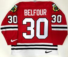 ED BELFOUR ORIGINAL NIKE REPLICA CHICAGO BLACKHAWKS JERSEY SIZE LARGE NEW