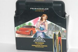 Prismacolor Premier Double-Ended Art Markers Fine and Chisel Tip 24-Count 97