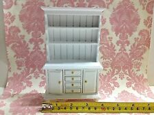 Dollhouse Miniature Furniture White Wood Cupboard Dresser Drawers Cabinet 1:12