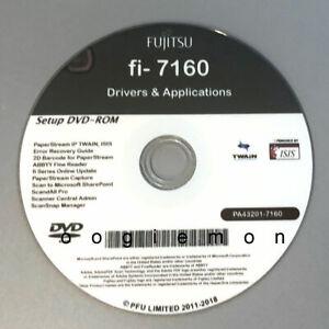 Setup DVD for Fujitsu fi-7160 - Driver Installation APP Software - Windows
